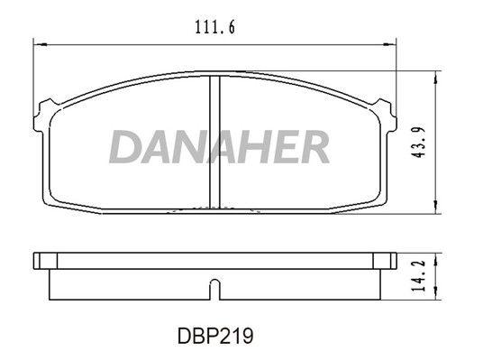 DANAHER DBP219 Jarrupala, levyjarru