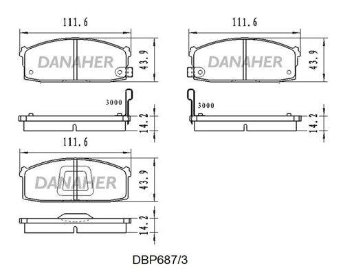 DANAHER DBP687/3 Jarrupala, levyjarru