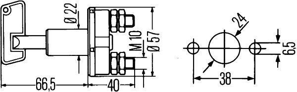 HELLA 6EK 002 843-002 Akun Pääkatkaisija